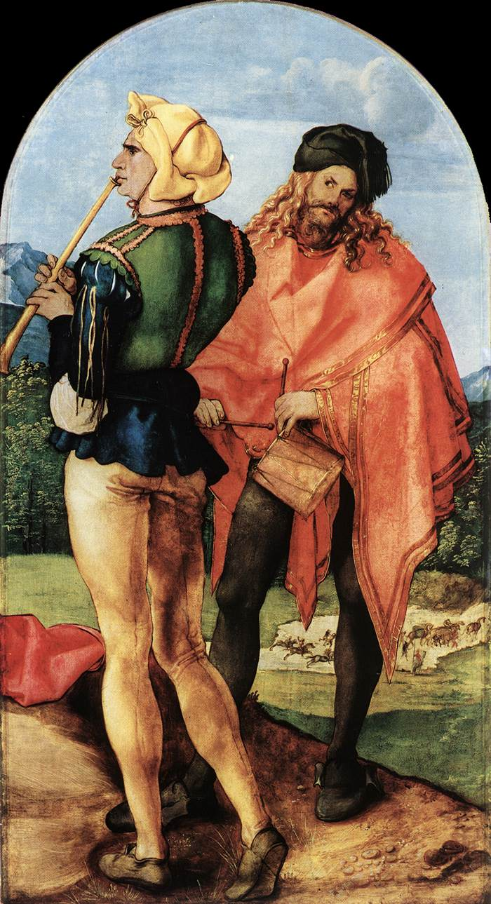 Two Musicians 1504 | Albrecht Durer | Oil Painting