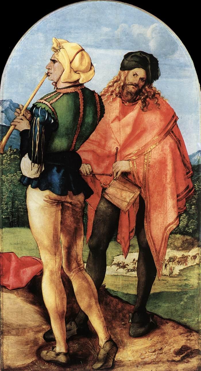 Two Musicians 1504 | Albrecht Durer | Oil Painting