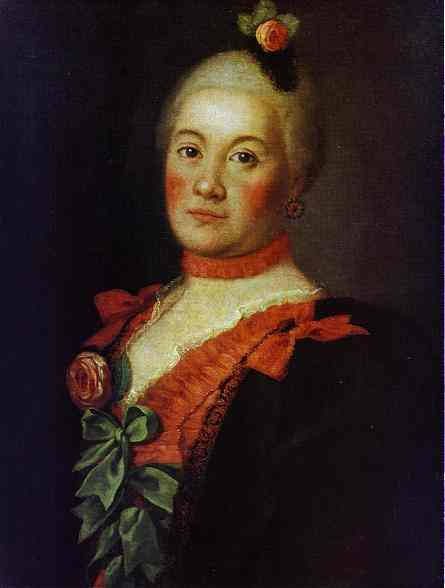 Portrait Of Princess T A Trubetzkaya 1761 | Aleksey Antropov | Oil Painting