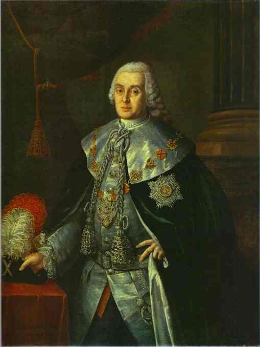 Portrait Of General In Chief Count William W Fermor 1765 | Aleksey Antropov | Oil Painting