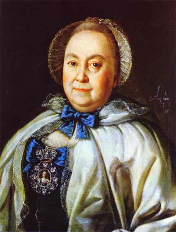 Portrait Of Countess M A Rumyantzeva 1764 | Aleksey Antropov | Oil Painting