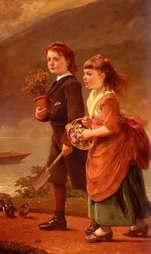 Sant James The Children Of Major H Barrett Of Moredon  Taunt | Alessandro Sani | Oil Painting