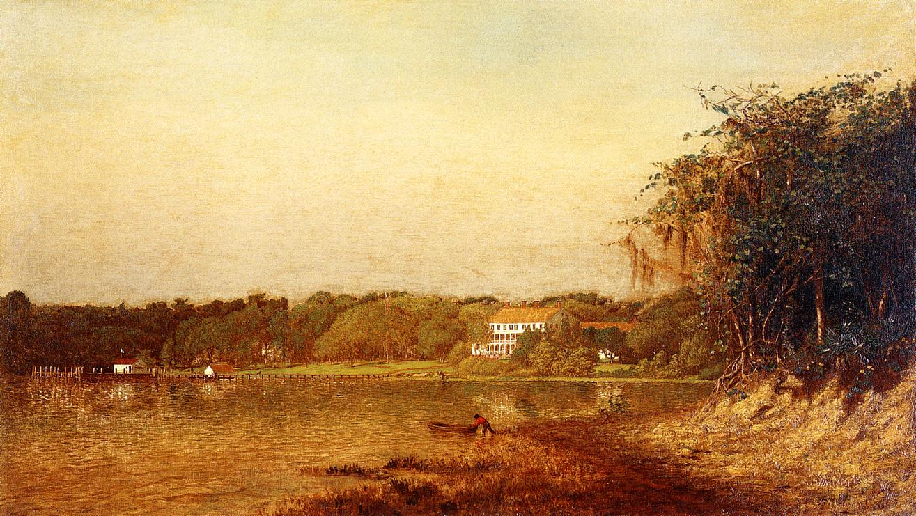 Enterprise at Lake Monroe 1871 | Alexander Helwig Wyant | Oil Painting