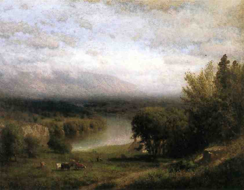 Farmhouse in a River Valley | Alexander Helwig Wyant | Oil Painting