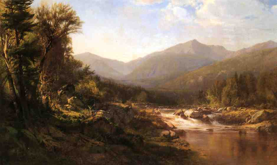 Landscape with Mountains and Stream | Alexander Helwig Wyant | Oil Painting