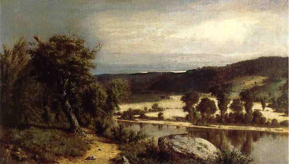 River Landscape 1864 | Alexander Helwig Wyant | Oil Painting