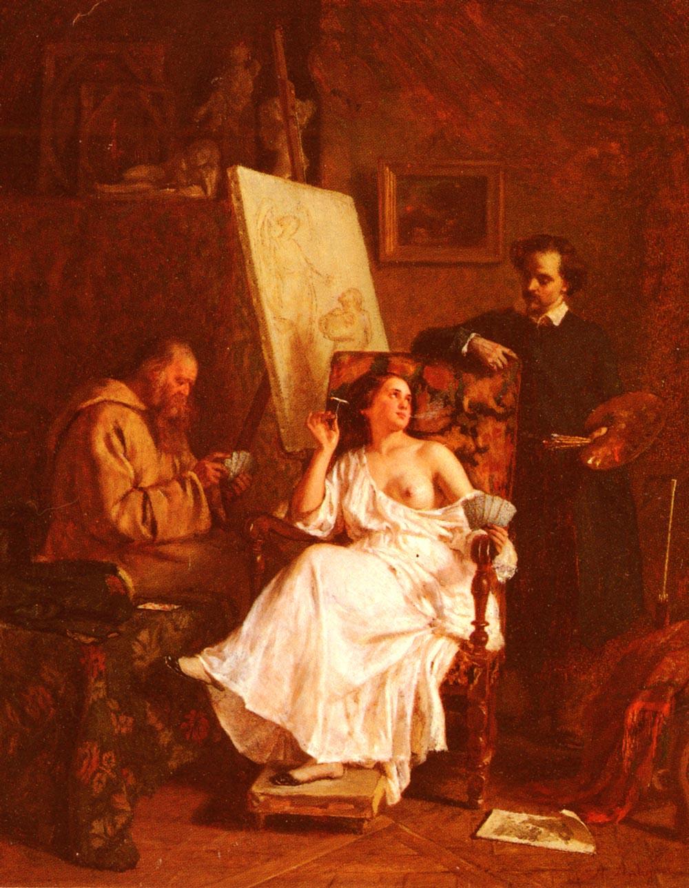 Scene D'Atelier | Alexandre Antigna | Oil Painting