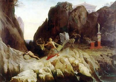 L ira di Oreste 1857   Alexandre Blaise Desgoffe   Oil Painting