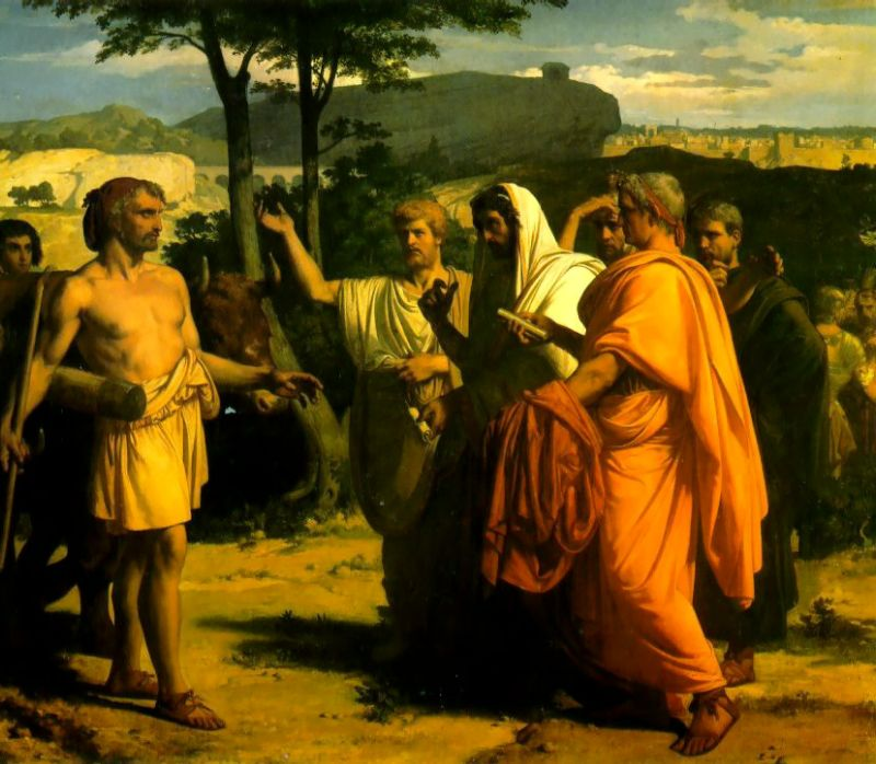 Cincinnatus Receiving Deputies of the Senate | alexandre cabanel | Oil Painting