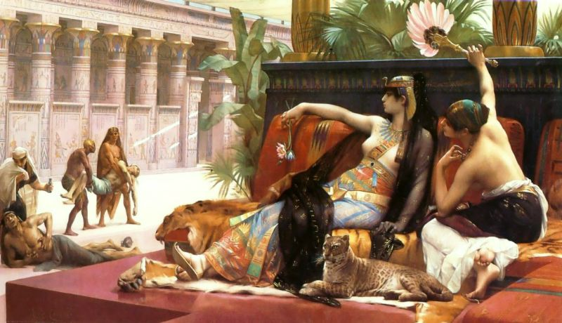 Cleopatra Testing Poisons on Condemned Prisoners 1887 | alexandre cabanel | Oil Painting