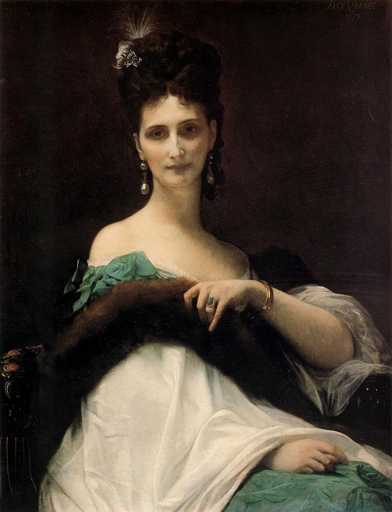 La Comtesse de Keller 1873 | alexandre cabanel | Oil Painting
