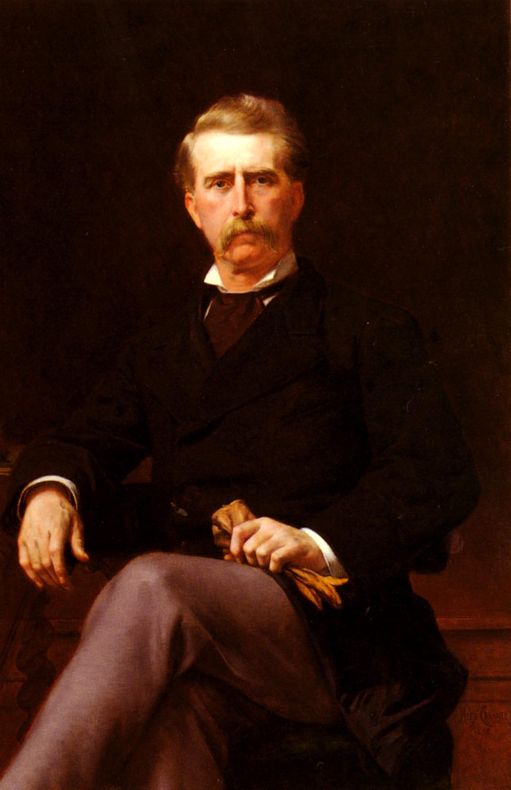 Portrait of John William Mackay 1878 | alexandre cabanel | Oil Painting