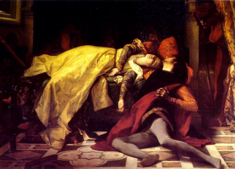 The Death of Francesca da Rimini and Paolo Malatesta 1870 | alexandre cabanel | Oil Painting