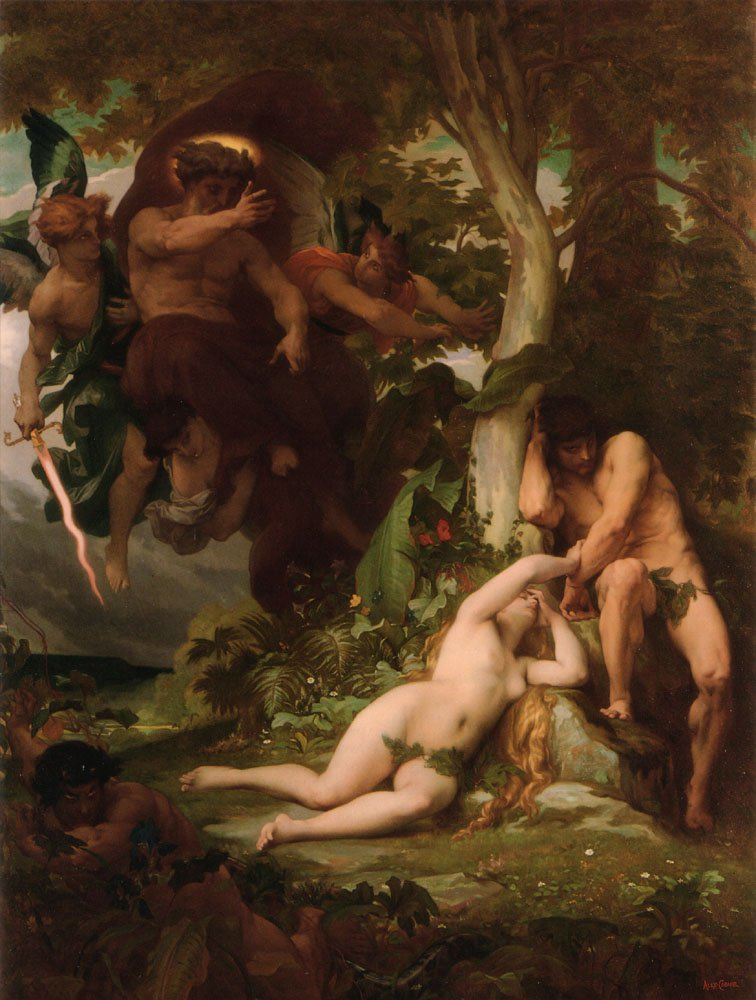 The Expulsion of Adam and Eve from the Garden of Paradise | alexandre cabanel | Oil Painting