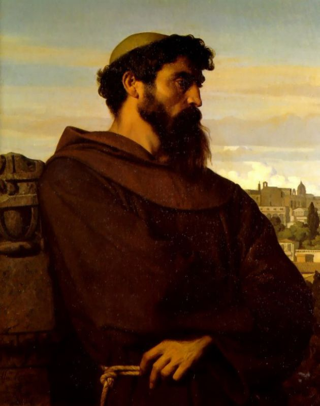 The Roman Monk | alexandre cabanel | Oil Painting