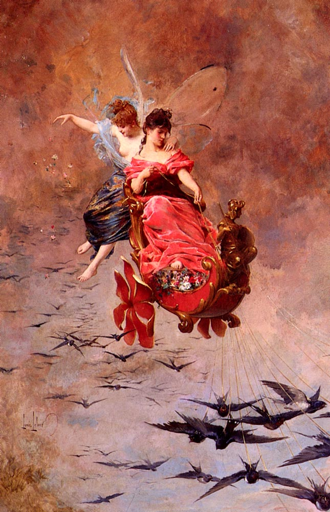 A Chariot Of Swallows | Alexandre Louis Leloir | Oil Painting