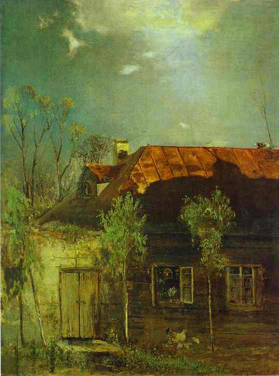A Provincial Cottage Spring 1878 | Alexey Savrasov | Oil Painting