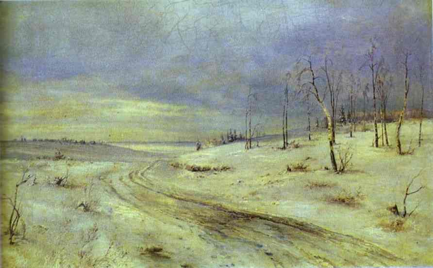 A Winter Road 1870s | Alexey Savrasov | Oil Painting