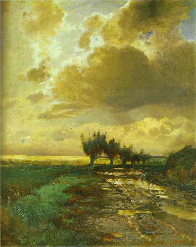 Country Road 1873 | Alexey Savrasov | Oil Painting