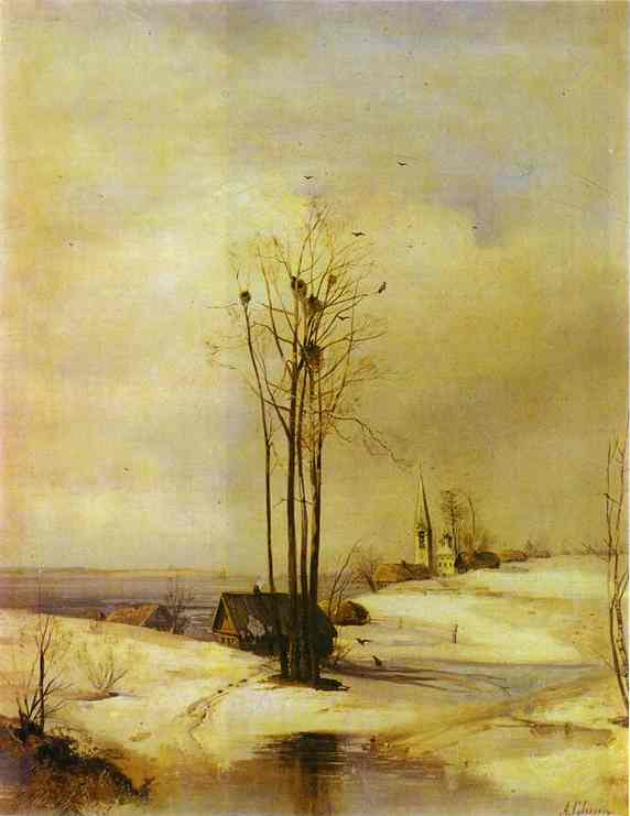 Early Spring Thaw 1880s | Alexey Savrasov | Oil Painting