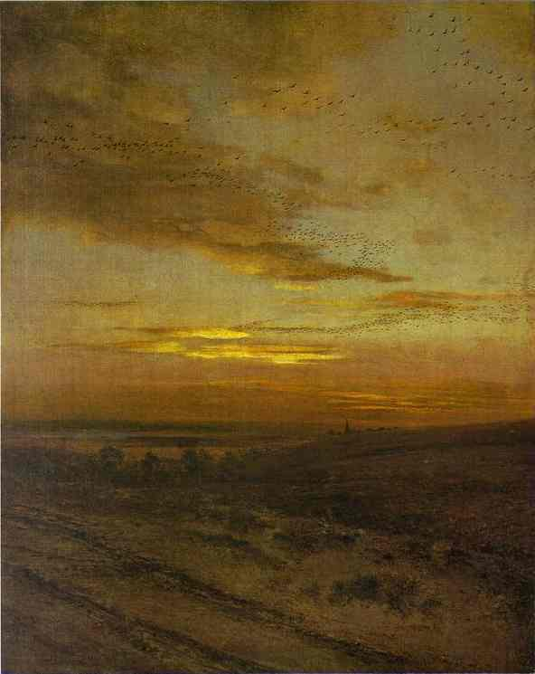 Evening Birds Flying Away 1874 | Alexey Savrasov | Oil Painting
