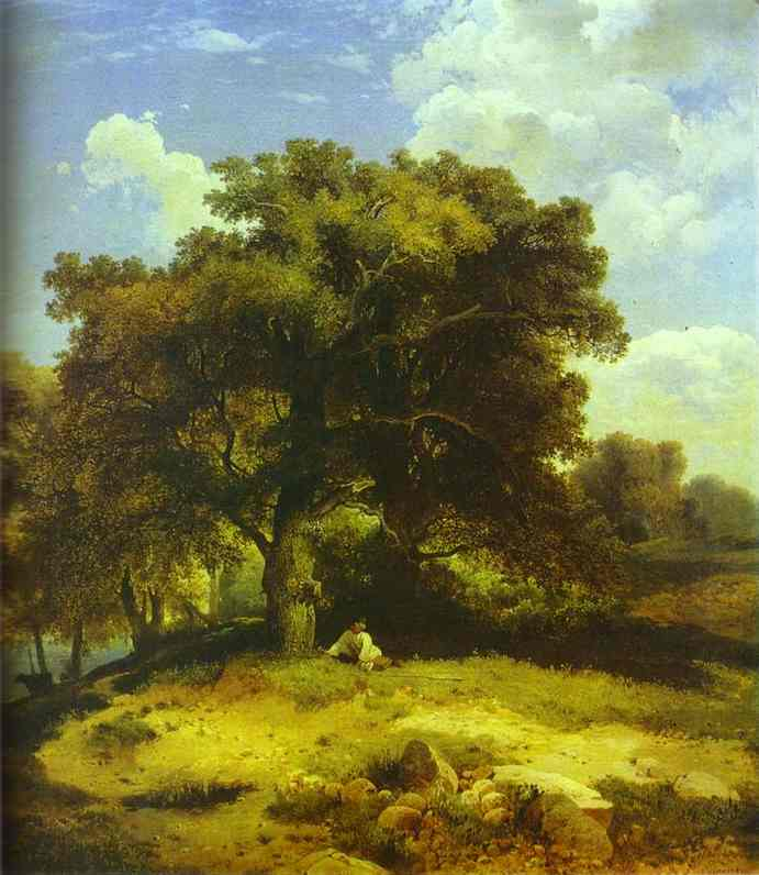 Landscape With Oaks 1850s Moscow Russia | Alexey Savrasov | Oil Painting