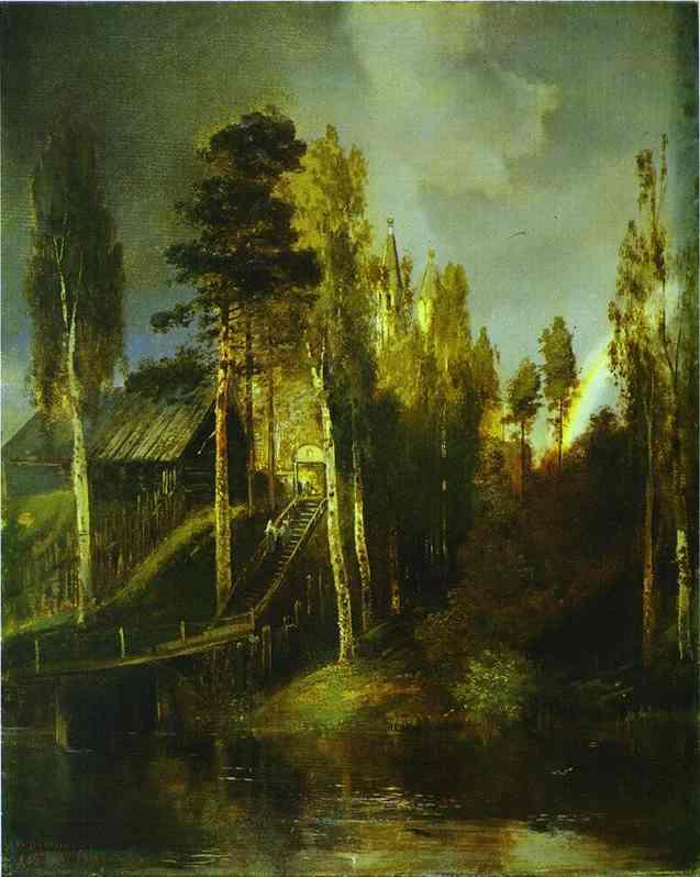 Monastery Gates 1875 | Alexey Savrasov | Oil Painting