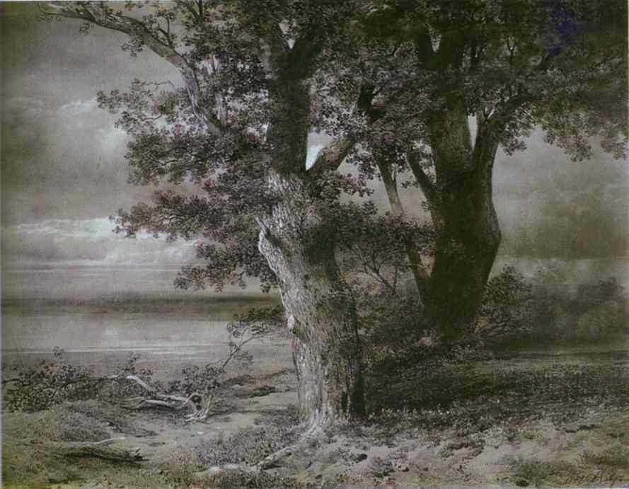 Oaks On River Bank 1867 | Alexey Savrasov | Oil Painting