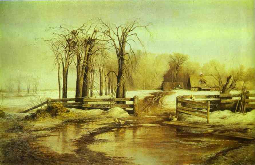Spring Day 1873 | Alexey Savrasov | Oil Painting