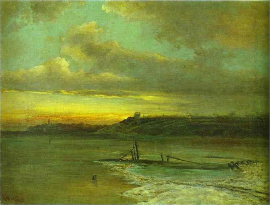 Spring Thaw 1874 | Alexey Savrasov | Oil Painting