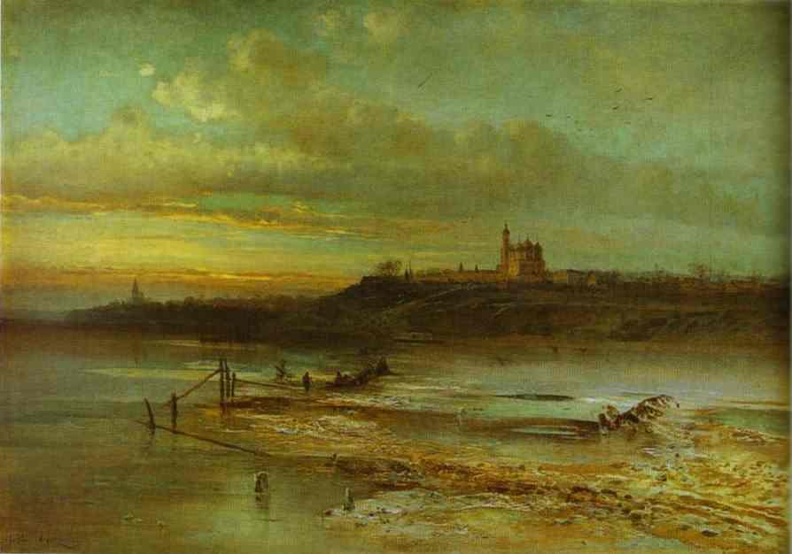 Spring Thaw Yaroslavl 1874 | Alexey Savrasov | Oil Painting