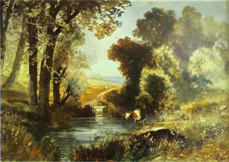 Summer Landscape 1860s | Alexey Savrasov | Oil Painting