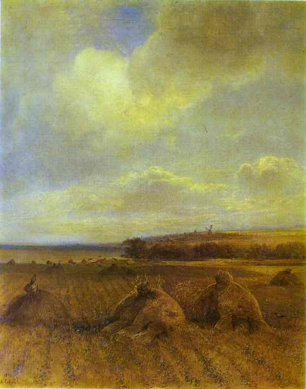 The End Of Summer On The Volga River 1873 | Alexey Savrasov | Oil Painting