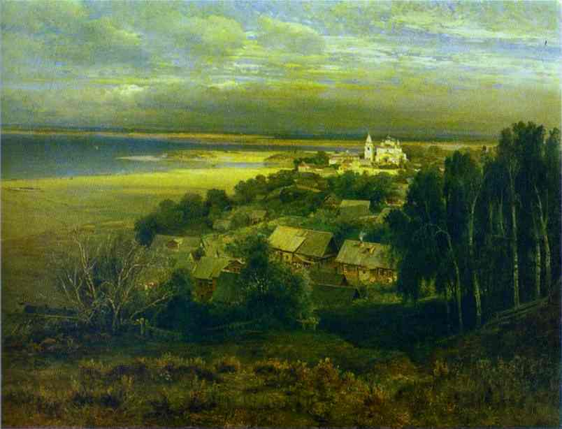 The Monastery Of The Caves Near Nizhny Novgorod 1871 | Alexey Savrasov | Oil Painting
