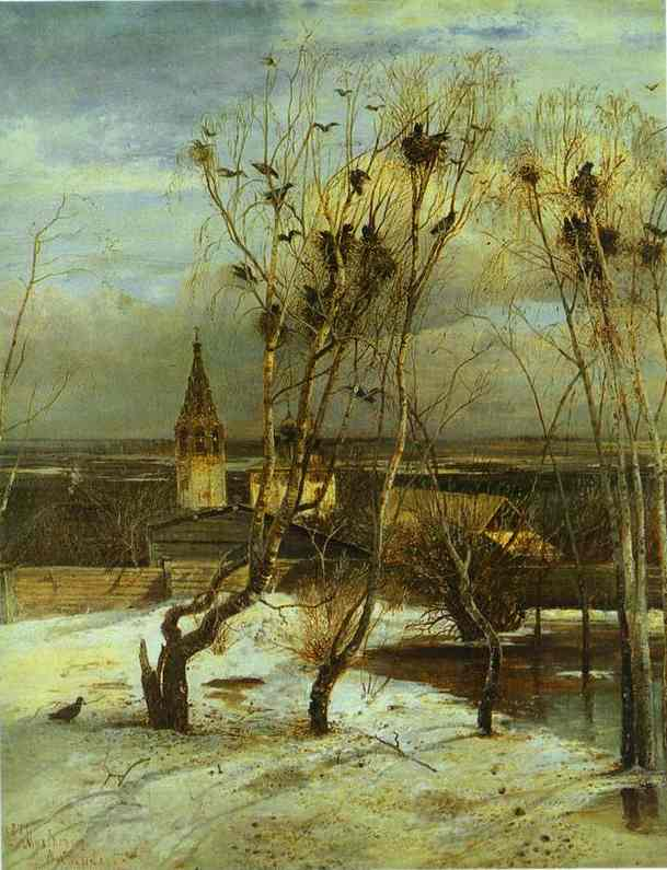 The Rooks Have Come 1871 | Alexey Savrasov | Oil Painting