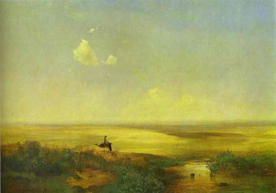 The Steppe In Daytime 1852 | Alexey Savrasov | Oil Painting