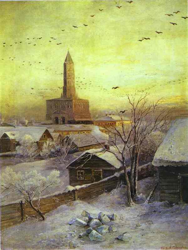 The Sukharev Tower 1872 | Alexey Savrasov | Oil Painting