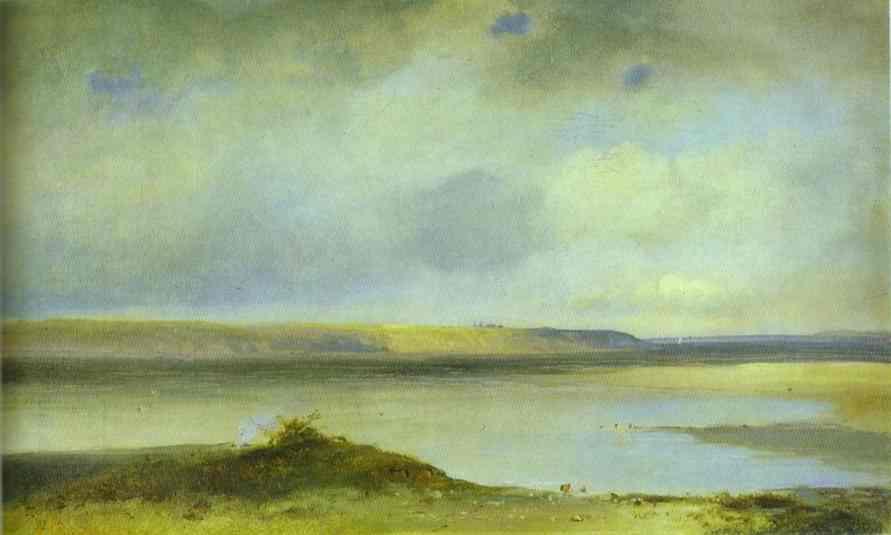 The Volga River Vistas 1870s | Alexey Savrasov | Oil Painting