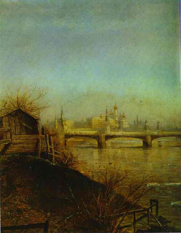 View Of The Moscow Kremlin Spring 1873 | Alexey Savrasov | Oil Painting