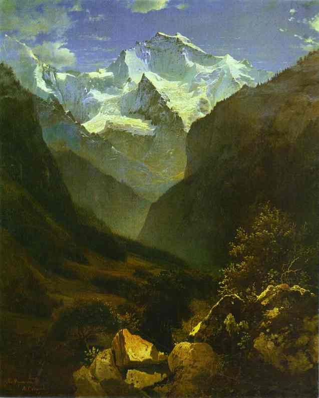 View Of The Swiss Alps From Interlaken 1862 | Alexey Savrasov | Oil Painting