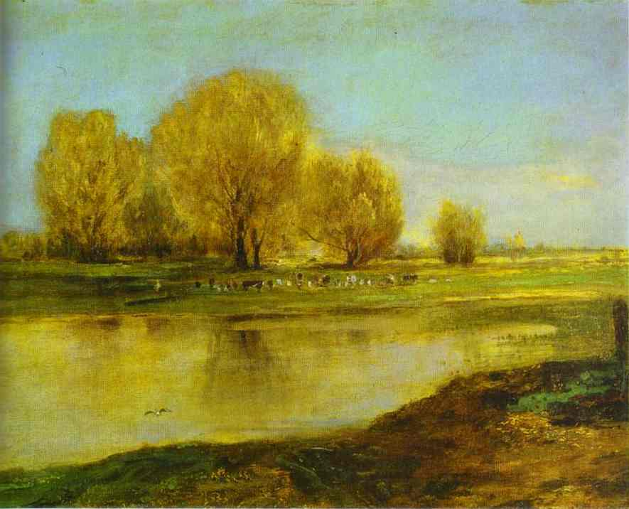 Willows By A Pond 1872 | Alexey Savrasov | Oil Painting