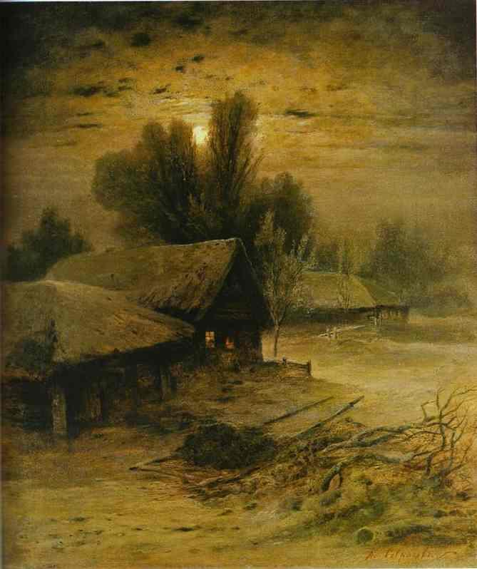 Winter Night 1869 | Alexey Savrasov | Oil Painting