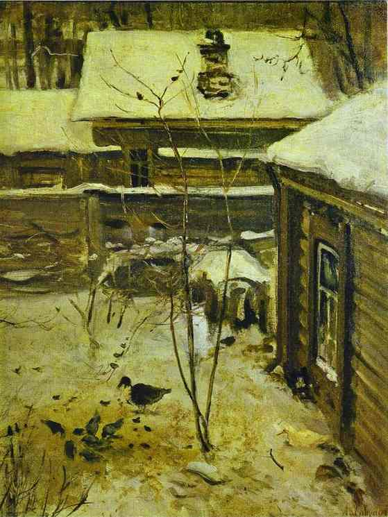 Yard Winter1870s | Alexey Savrasov | Oil Painting
