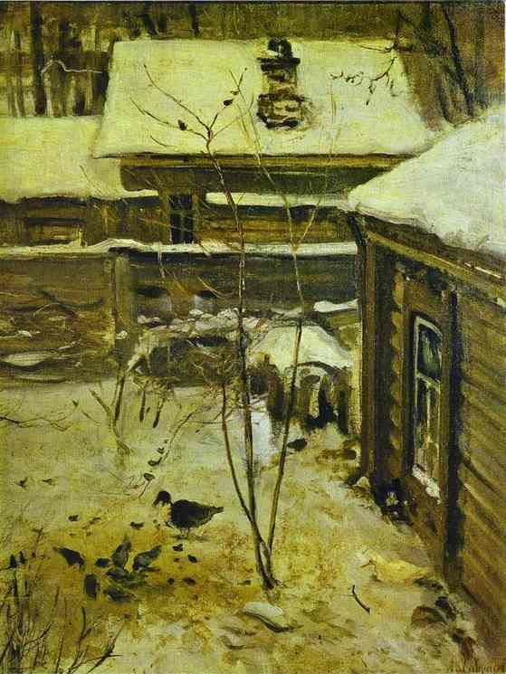 Yard Winter1870s | Alexey Savrasov | Oil Painting