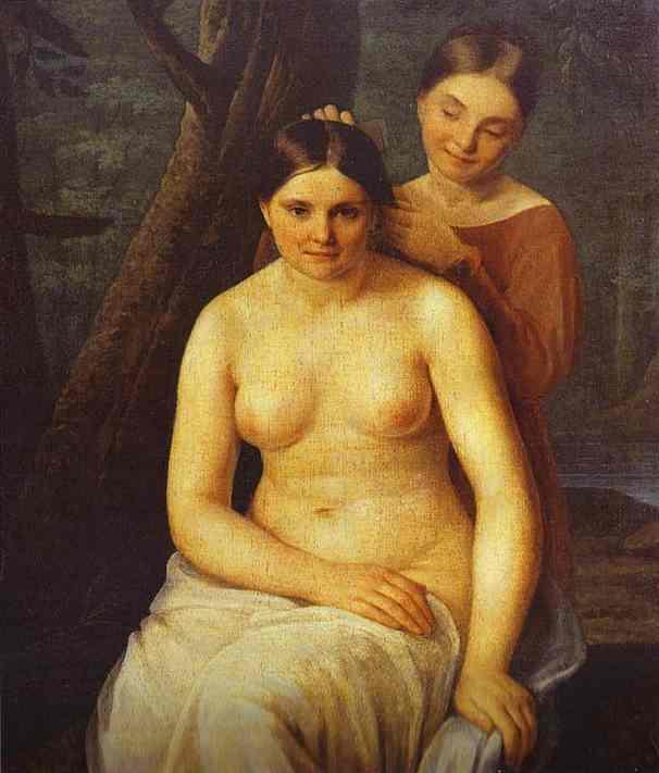 Bathers 1829 | Alexey Venetsianov | Oil Painting