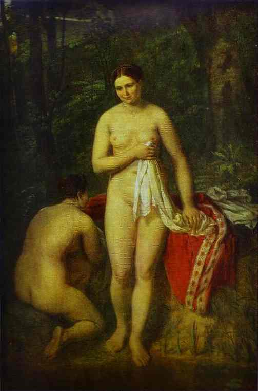 Bather 1820-1830 | Alexey Venetsianov | Oil Painting