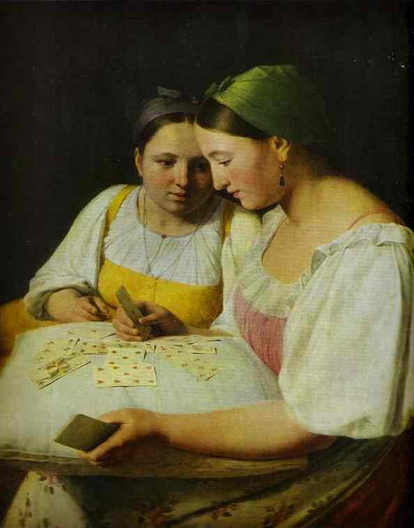 Cartomancy 1842 | Alexey Venetsianov | Oil Painting
