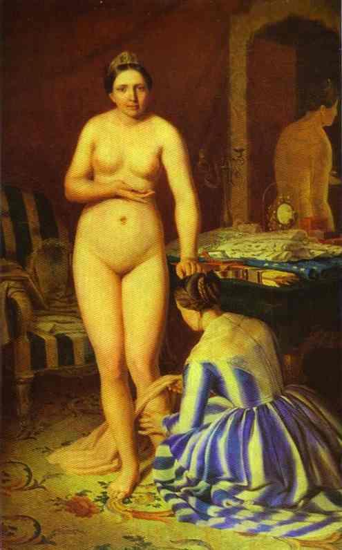 Diana Dressing 1846 | Alexey Venetsianov | Oil Painting