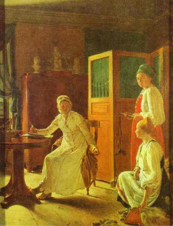 Morning Of The Landlady 1823 | Alexey Venetsianov | Oil Painting