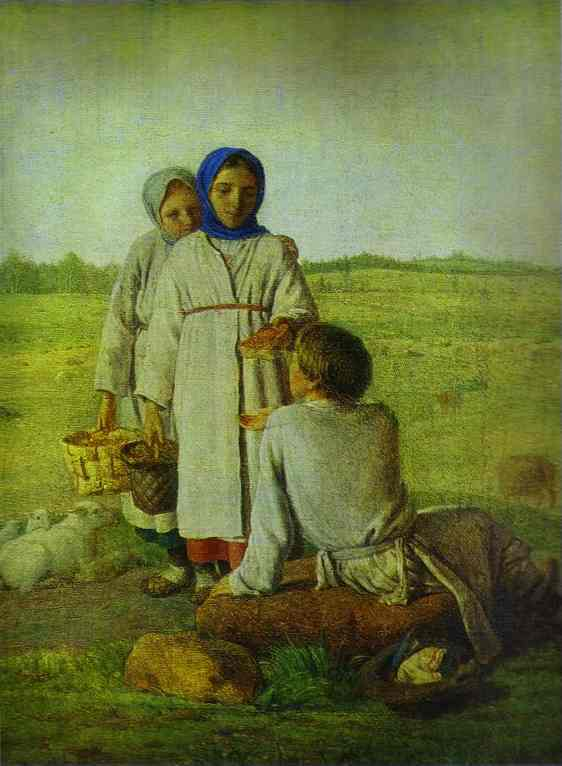 Peasant Children In The Field 1820s | Alexey Venetsianov | Oil Painting